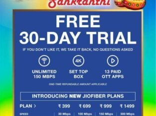 jio Fiber net free trail 30days