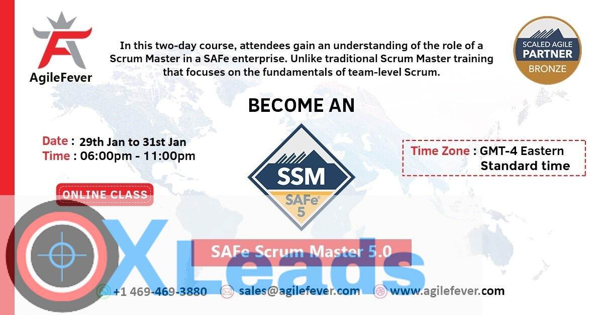 SAFe Scrum Master 5.0 | Online Certification |